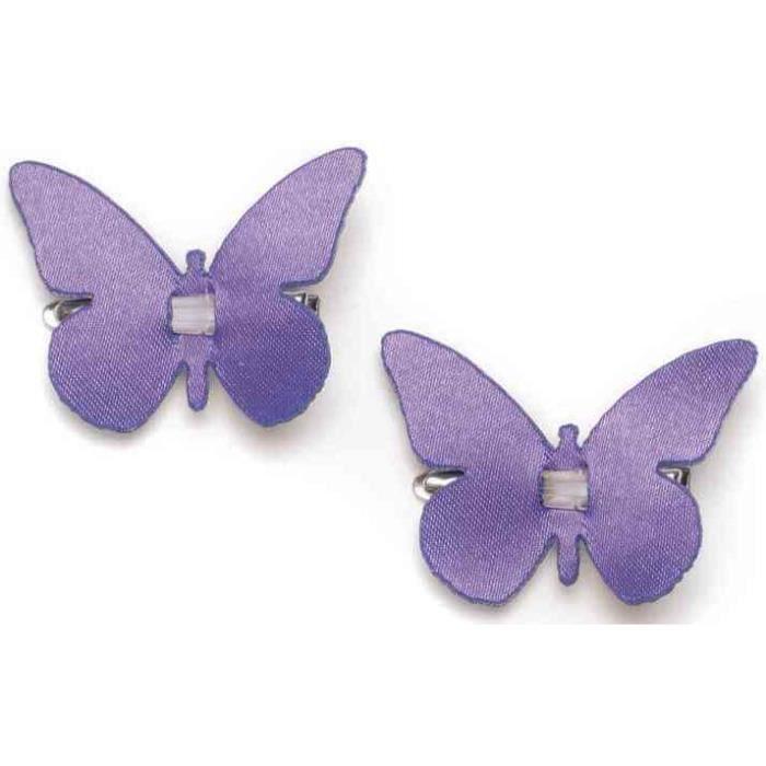 clip papillon violet achat vente objet d coratif. Black Bedroom Furniture Sets. Home Design Ideas