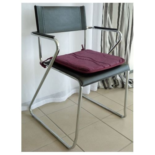 Galette de chaise prune 40 x 40 cm achat vente coussin for Chaise prune