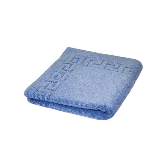 tapis de bain 90 prestige antid rapant 800 g par m2 bleu. Black Bedroom Furniture Sets. Home Design Ideas