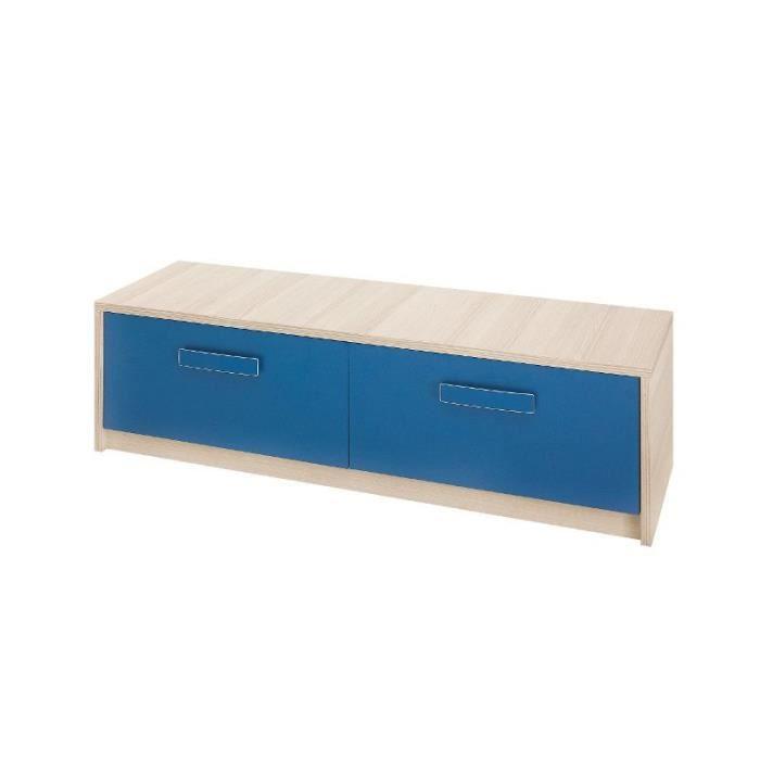 justhome bregi br x meuble tv bleu 38 x 135 x 42 cm. Black Bedroom Furniture Sets. Home Design Ideas