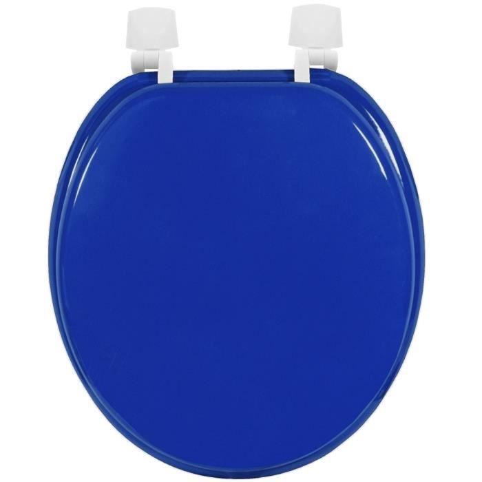 abattant de toilettes cuvette wc en bois mdf bleu oc an. Black Bedroom Furniture Sets. Home Design Ideas