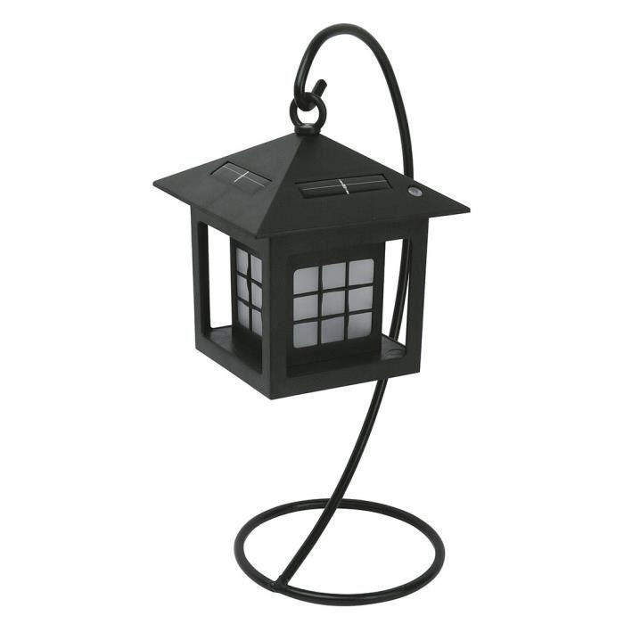 solarline lanterne solaire de table sur pied h29cm noir achat vente lampion lanterne sl de. Black Bedroom Furniture Sets. Home Design Ideas