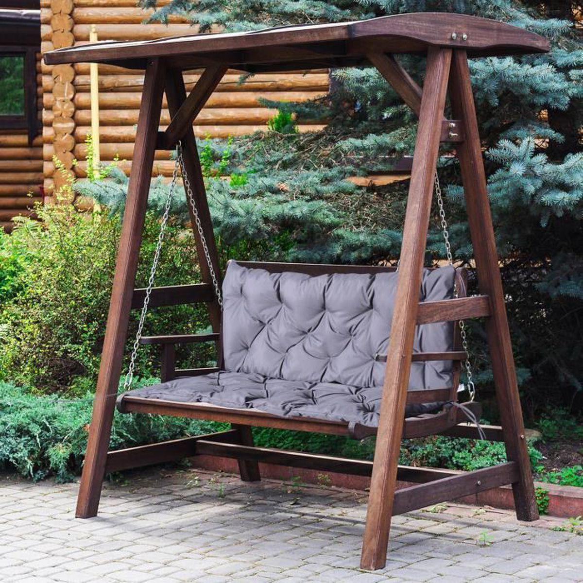outsunny coussin assise dossier pour banc de jardin balancelle 2 places oxford 98 x 100 x 8cm. Black Bedroom Furniture Sets. Home Design Ideas