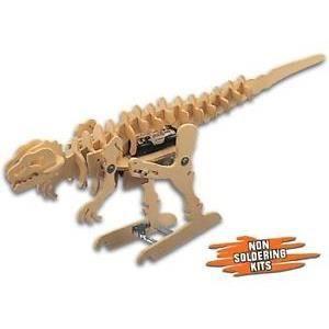 kit electronique en bois a monter robot tyrannosaure achat vente kit mod 233 lisme cdiscount