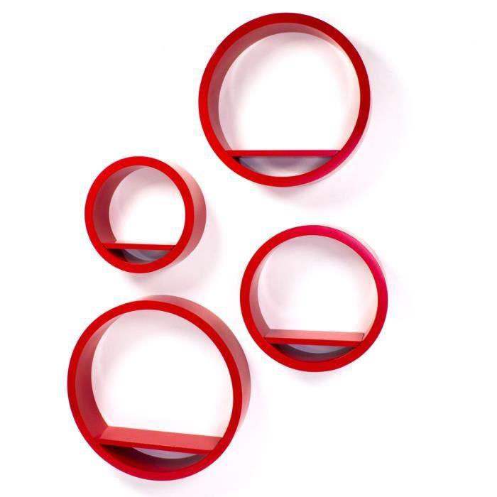 Etag res murale cube rouge 4 pi ces achat vente meuble tag re etag res murale cube rouge - Etagere murale rouge ...