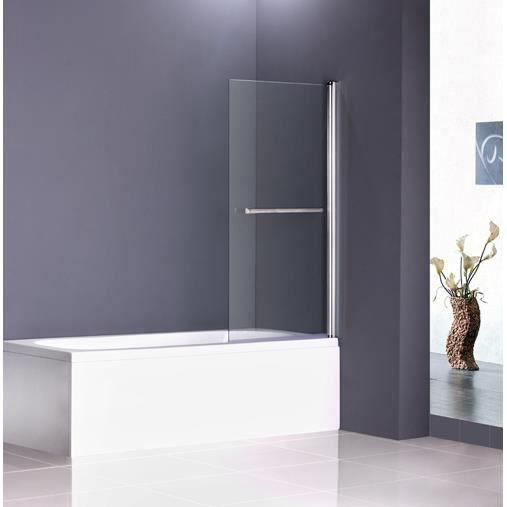 porte de douche pour baignoire paroi pare douche verre de