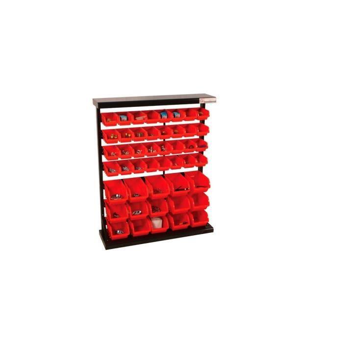 etag re de rangement avec 47 bacs plastique ksr94 achat vente rangement tag re etag re de. Black Bedroom Furniture Sets. Home Design Ideas