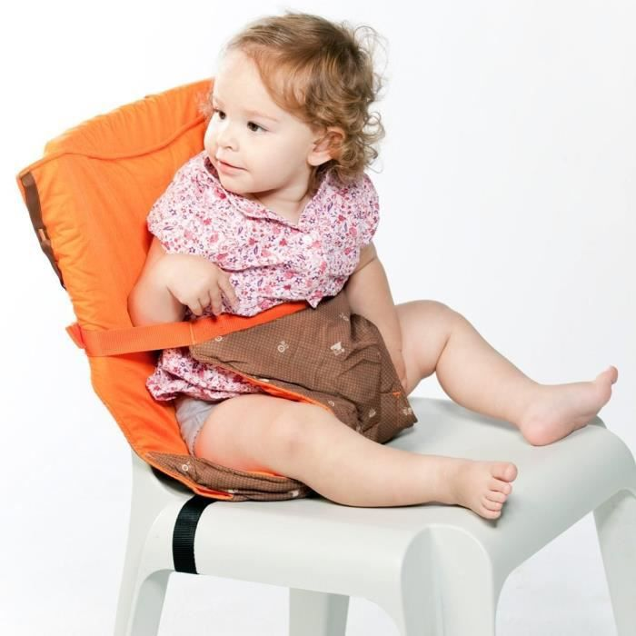 Chaise nomade r versible chocolat orange achat vente for Chaise nomade bebe