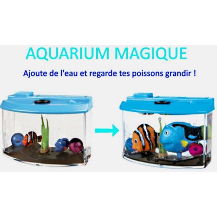 1 aquarium magique poissons qui gonflent dans l eau jouet for Jouet aquarium poisson