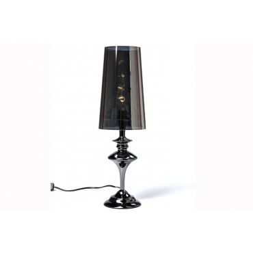 Lampe poser m tal baroque noir achat vente lampe for Lampe a poser baroque