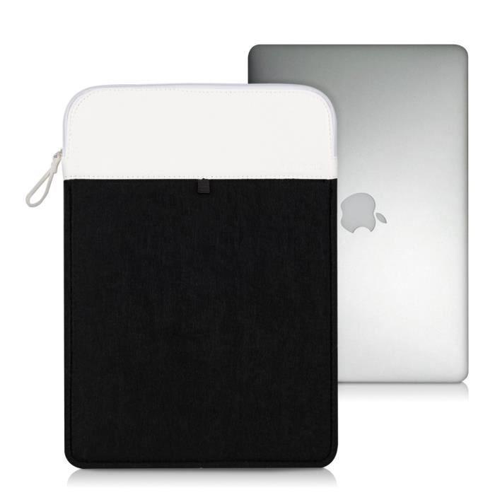 kwmobile 174 housse de protection pour apple macbook air 13 quot fait de durable sentir en noir avec