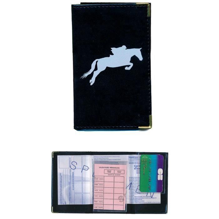 pochette etui protection porte carte grise papiers voiture permis de conduire cheval course. Black Bedroom Furniture Sets. Home Design Ideas