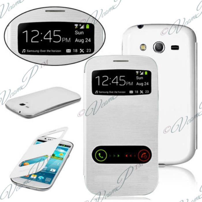 telephonie accessoires portable gsm etui view case samsung galaxy trend lite s f  vco