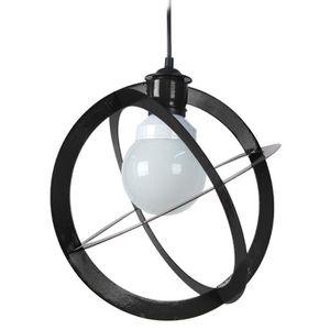 URANO Lustre - suspension métal, diametre 28 cm, forme planisph?re, métal noir