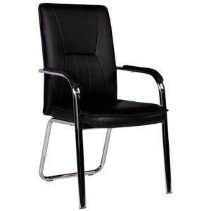 CHAISE Chaise moderne coloris noir et acier chromé
