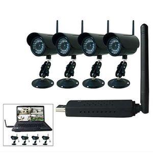 kit 4 camera securite sans fil avec recepteur usb achat vente cam ra de surveillance cdiscount. Black Bedroom Furniture Sets. Home Design Ideas