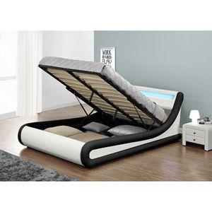 cadre de lit 140x190 sans sommier achat vente cadre de lit 140x190 sans sommier pas cher. Black Bedroom Furniture Sets. Home Design Ideas