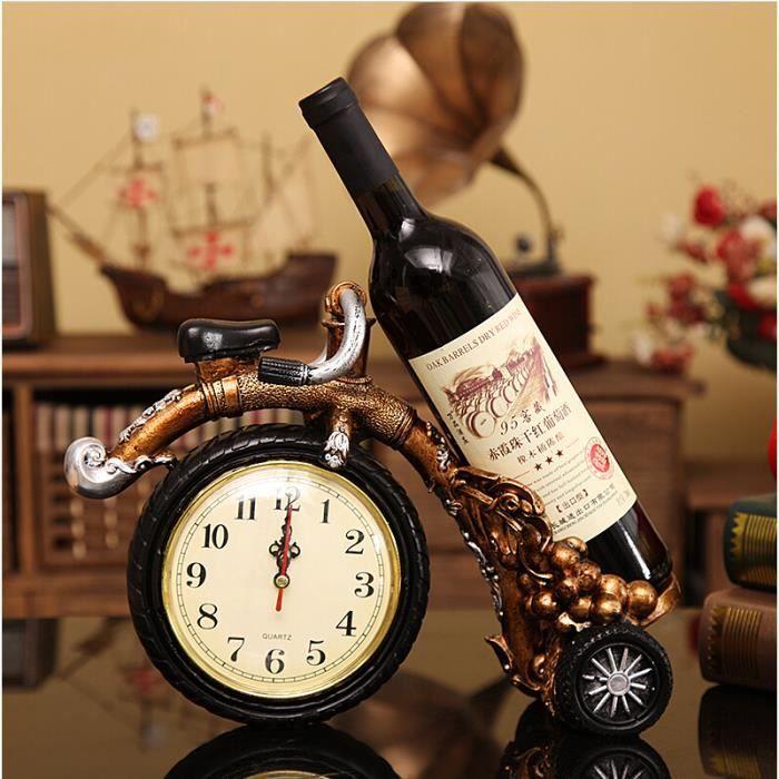 Porte bouteille d coration montre r sine salon bar etag res mode vin cadeaux cr maill re salon for Montre decoration