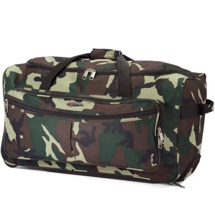 sac de voyage trolley 60cm camouflage achat vente sac de voyage 3662796036365 cdiscount. Black Bedroom Furniture Sets. Home Design Ideas