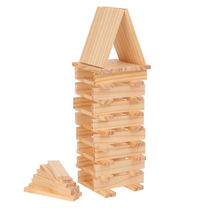 juniors jeux de construction  buchettes en bois naturel f impcz