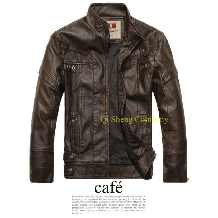 Qi sheng company 2015 fashion manteau de cuir lav hommes new cuir moto manteaux vestes achat - Laver une veste en cuir ...