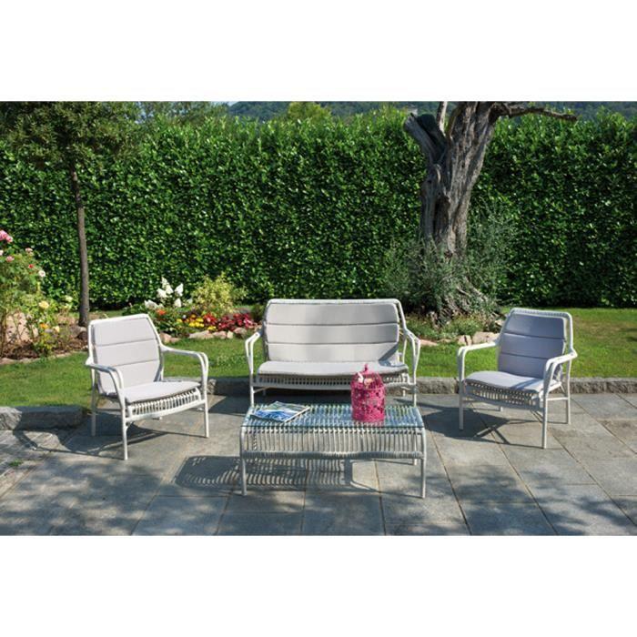 Salon de jardin avec 1 canap 2 chaises 1 table achat vente salon de jardin 1 canap 2 Salon de jardin vasto