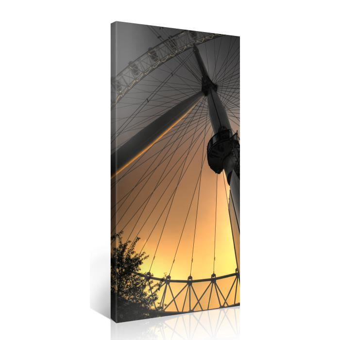 tableau sur toile parc attraction 100x50cm achat vente tableau toile toile bois cdiscount. Black Bedroom Furniture Sets. Home Design Ideas