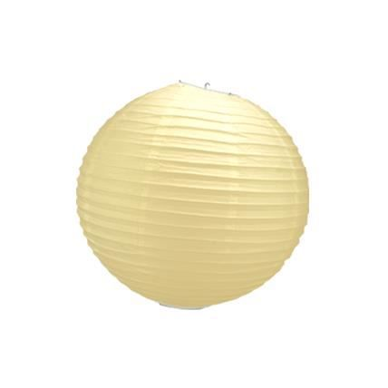 Boule papier ivoire 30 cm x3 achat vente d co de f te for Boule de papier deco