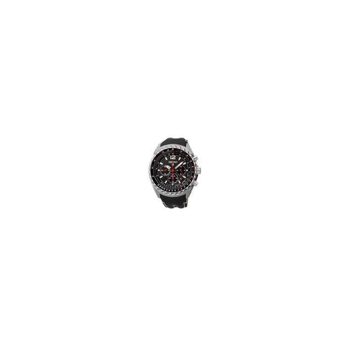 montre pour homme chrono aviateur solar bracelet cuir seiko achat vente montre bague montre. Black Bedroom Furniture Sets. Home Design Ideas