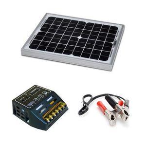 kit panneau solaire 12v 100w achat vente kit panneau solaire 12v 100w pas cher cdiscount. Black Bedroom Furniture Sets. Home Design Ideas