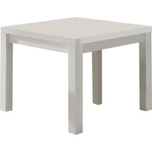 Table laquee blanche carree achat vente table laquee - Table carre laque blanc ...