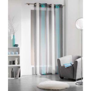 rideau bleu turquoise achat vente rideau bleu turquoise pas cher soldes d hiver d s le. Black Bedroom Furniture Sets. Home Design Ideas