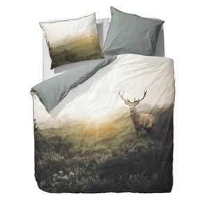 Parure de lit cerf achat vente parure de lit cerf pas for Housse de couette petit lit
