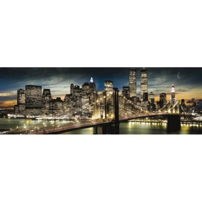 New York Midi Poster Manhattan, Jour Et Nuit (30 x 91 cm) New York