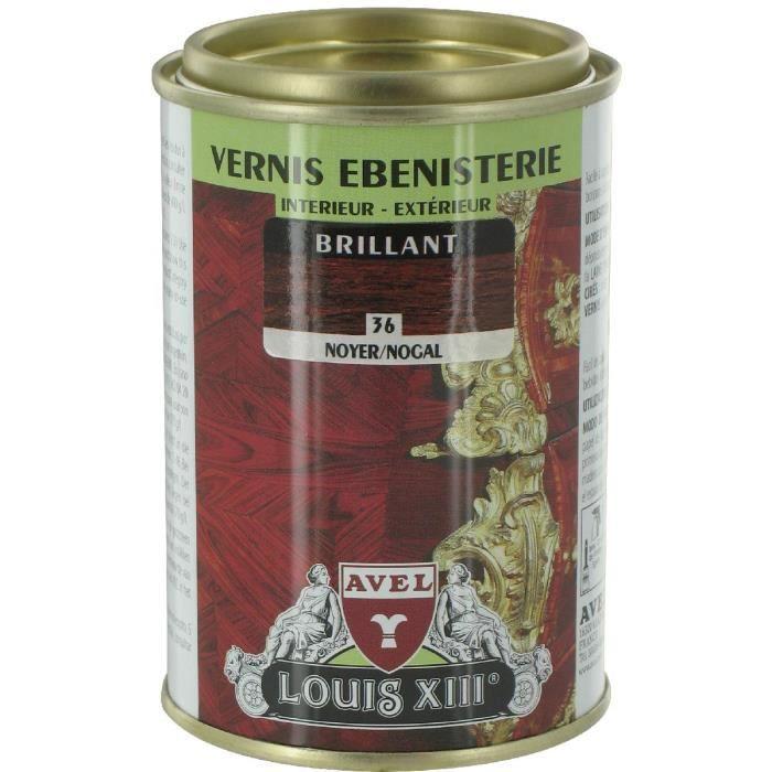 Vernis bois brillant 250 ml avel noyer achat vente for Peinture vernis bois