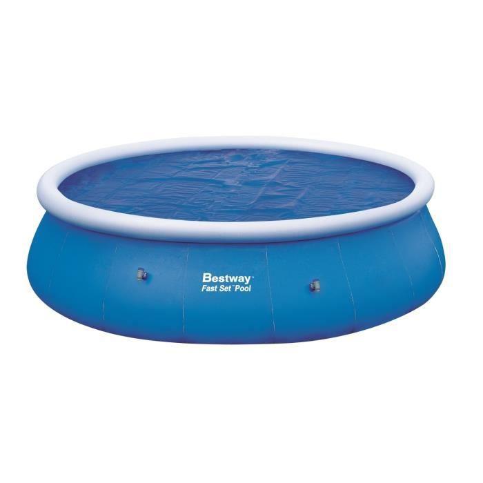 B che solaire 455cm pour fast set pool ronde 549cm achat for Bache piscine easy set