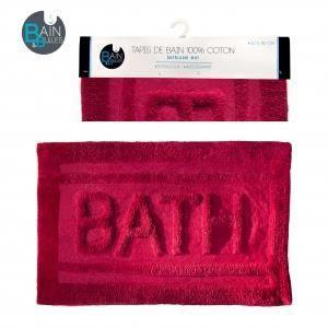 Tapis salle de bain bath couleur rose achat vente - Tapis salle de bain rose ...