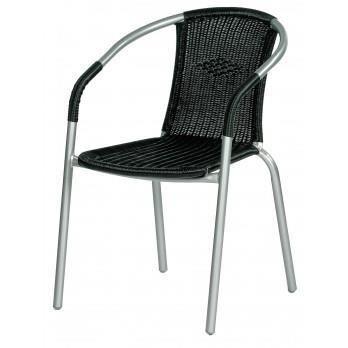 fauteuil de jardin lot de 2 bistrot acier et achat vente chaise fauteuil jardin. Black Bedroom Furniture Sets. Home Design Ideas
