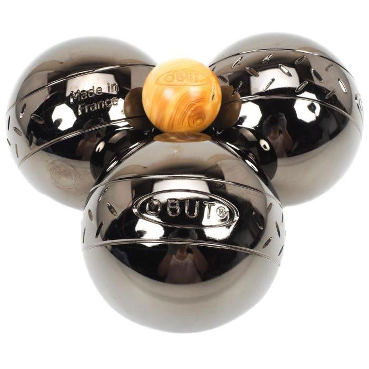 boules de p tanque malette 3 boules chevron obut uni. Black Bedroom Furniture Sets. Home Design Ideas