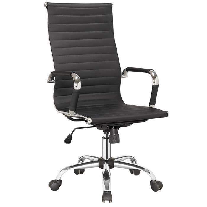 Fauteuil de bureau noir osra achat vente chaise de for Achat chaise de bureau