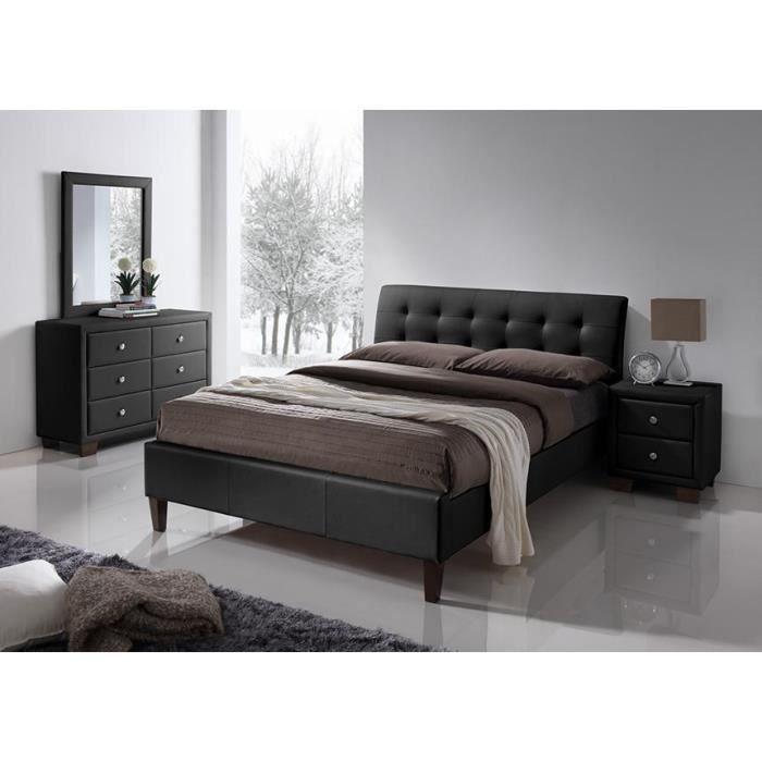 lit capitonn 140 190 pas cher table de lit. Black Bedroom Furniture Sets. Home Design Ideas