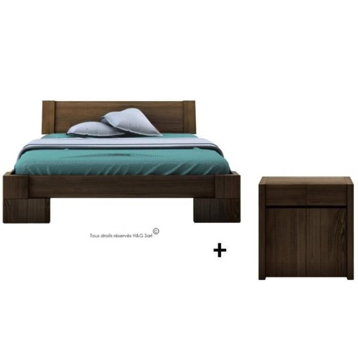 lit deux personnes wenge. Black Bedroom Furniture Sets. Home Design Ideas