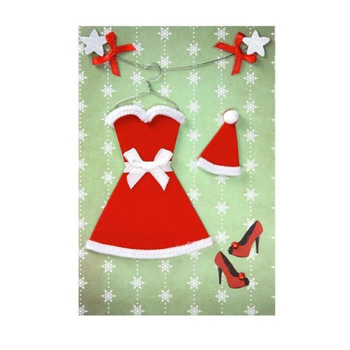 carte de voeux carte noel nouvel an robe rouge achat vente carte postale carte de voeux. Black Bedroom Furniture Sets. Home Design Ideas