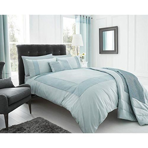 eleanor james moderne nouvelle parure de lit avec housse de couette et 2taies d oreiller bleu. Black Bedroom Furniture Sets. Home Design Ideas