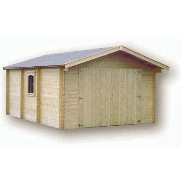 Garage bois 28mm pomona x sh achat vente garage gara - Garage bois discount ...