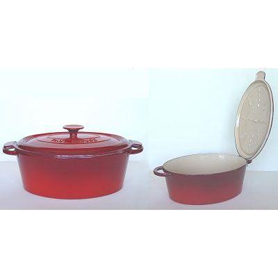 Cocotte ovale 29 cm bocuse mains libres rouge achat vente cocotte cocotte - Cocotte fonte paul bocuse ...