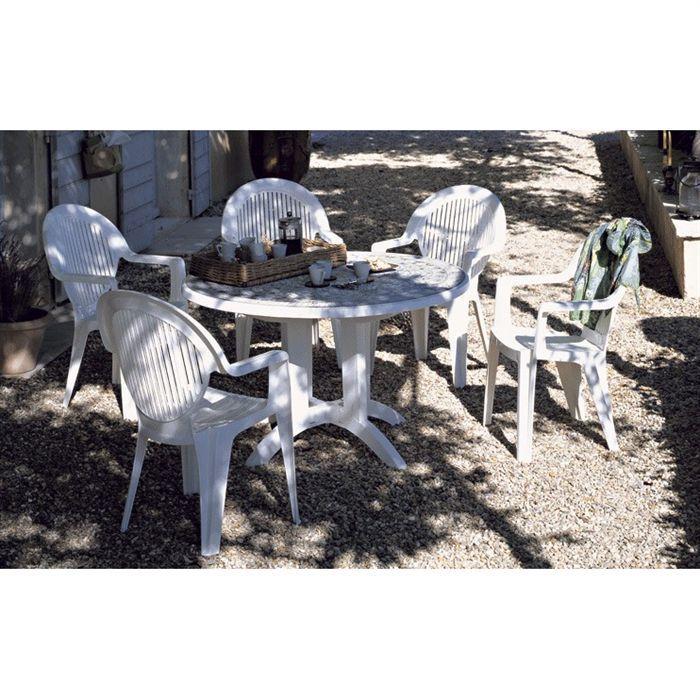 Fauteuil fidji ii blanc grosfillex achat vente fauteuil jardin chaises de jardin cdiscount - Chaises grosfillex jardin ...
