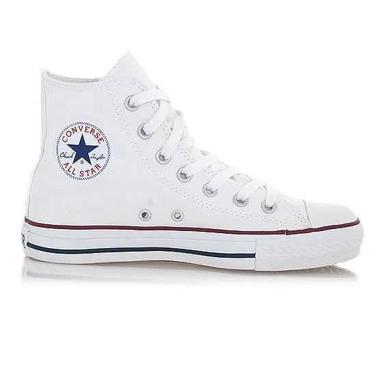 converse all star hi blanc blanc blanc achat vente basket cdiscount. Black Bedroom Furniture Sets. Home Design Ideas