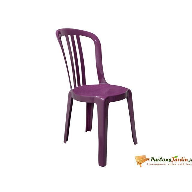 Chaise en r sine miami bistrot purple empilable achat for Chaise miami bistrot