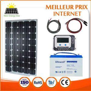 kit panneau solaire avec batterie achat vente kit. Black Bedroom Furniture Sets. Home Design Ideas